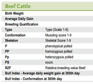 Beef Figures explanation